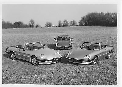 Alfa Romeo Spider Series 3 Press Release/Photograph - 1987