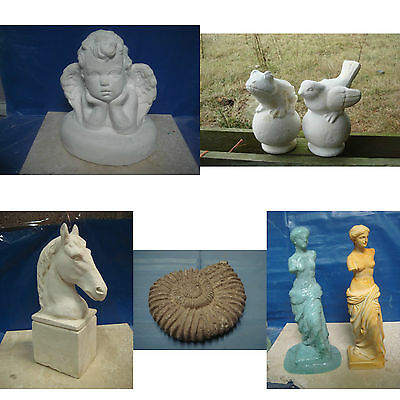 6 Latex Mould Mold Venus, Fossil, Angel, Horse, Frog & Bird On Ball ( 1 Of Each)