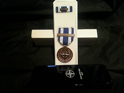NEW IN BOX US Non-Article 5 NATO Medal (ISAF Bar) Afghanistan with RIBBON & Bar