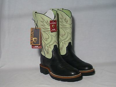 New Ariat Cobalt Crepe Black Western Crepe Soled Boots Womens SIze 6B