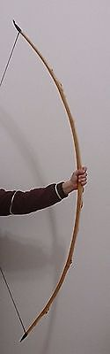 """FLAGELLA DEI YEW MADE TRADITIONAL ENGLISH """"D"""" LONGBOW 74"""" 43 lbs READY TO SHIP"""