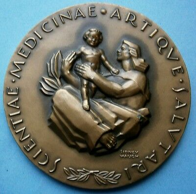1958 Sidney Waugh Advertising Bronze Medallion for Squibb Centennial