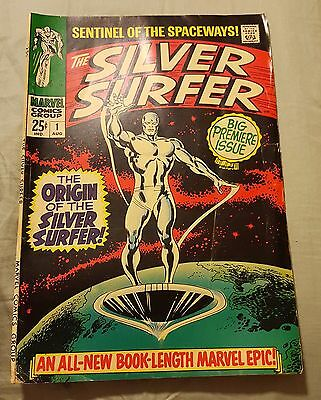 "The Silver Surfer ""Sentinel Of The Spaceways"" Vol. 1 No. 1 August 1968 MB4440"