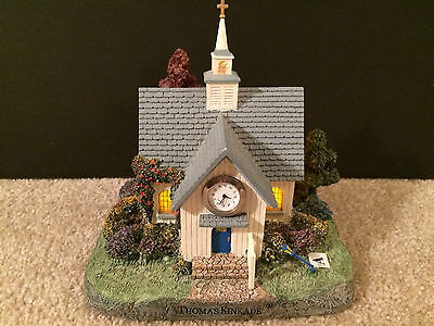 Thomas Kinkade  FOREST CHAPEL  Lighted Clock figurine 2004  Collectible