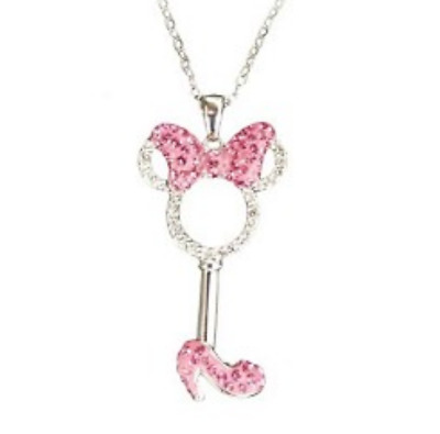Necklace✿Disney Authentic Minnie Mouse Shoe Made with Crystals from Swarovski ®