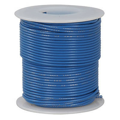 18 AWG Blue Stranded Tinned-Copper Hook-Up Wire 100 Feet