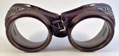 Vintage Victorian Steam Punk Cosplay Industrial  Welding Motorcycle Goggles