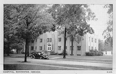 Rochester Indiana Hospital Street View Antique Postcard K49288
