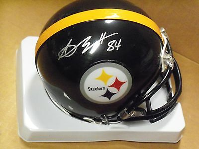 Antonio Brown, Pgh Steelers, Signed Black, Steelers, Mini Helmet, Clean