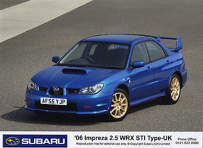 Subaru Impreza 2.5 WRX STi Type-UK Press Photographs - 2006 Model Year
