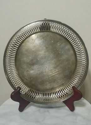 Antique Sterling Silver Round Tray Bigelow Kennard & co Boston 925