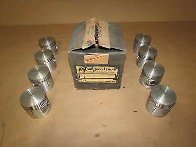 Thompson Piston Set 1937-1942 Ford Flathead V8 3-Ring Domed L779F +.030 NOS