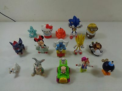 Action Figure Toy Lot with Sonic The Hedgehog, Minnie Mouse, Smurf, Pokemon