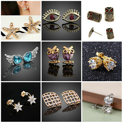 Elegant Fashion Jewelry Women Girls Crystal Stud Earrings Multi Style BEST GIFT