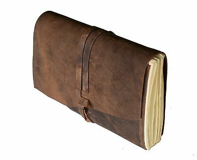 Leather Journal Writing Notebook Antique Handmade Leather Bound Daily Notepad...