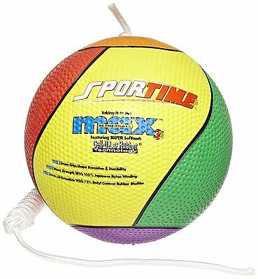 Sportime Max Tether Ball with Nylon Rope - Official Size and Weight - Multico...