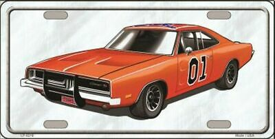Dukes Of Hazzard General Lee Novelty Vanity License Plate Tag Sign