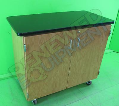 Diversified Woodcrafts 470K Mobile Microscope Cabinet with Locking Casters