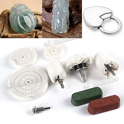 UK polishing kit Goblet Cylinder Dome polisher buffing drill wheel compound Mop