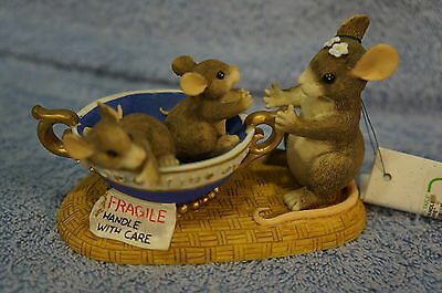 Charming Tails  Fragile Handle With Care Numbered Limited Edition #89/601-BNIB