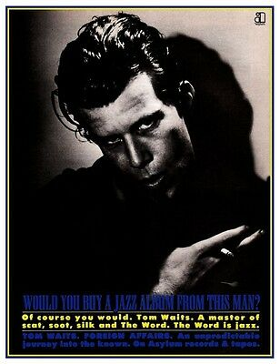 Tom Waits POSTER Foreign Affairs **VERY LARGE** Promo Ad  Bette Midler