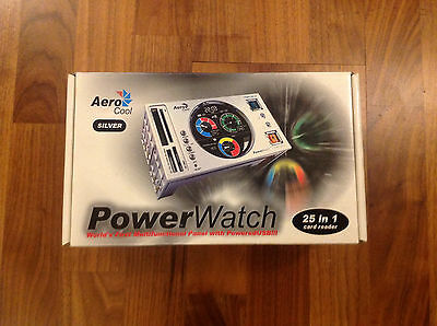 Aero Cool Powerwatch Card Reader Powered USB Front Panel