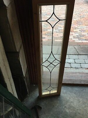 Sg 1073 Antique Leaded Beveled Transom Window 10.25 X 39.5""