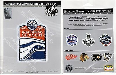 Edmonton Oilers Jersey Patch 2016-2017 Inaugural Season Stanley Cup Puck Style