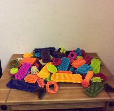 Sticklebricks 65 Pieces Various Sizes Shapes And Colours Good Condition