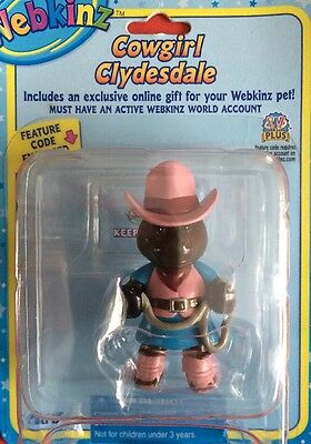 Webkinz Cowgirl Clydesdale