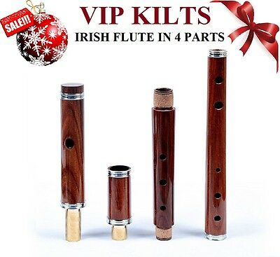 """Traditional Irish D Flute Rosewood Tunable 4 Part 26"""" Made In Ireland"""