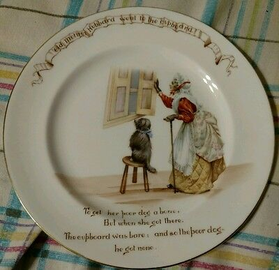 "Royal Doulton Nursery Rhymes 8"" plate ""Old Mother Hubbard"""