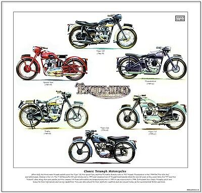 Triumph Tiger 100/speed Twin/trophy/thunderbird/cub/tiger 110--Motorcycle Print