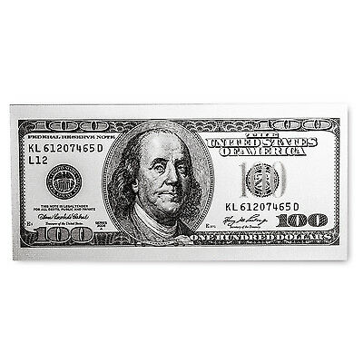 5 gram Silver Note - $100 Replica (Benjamin Franklin Design, 999) - SKU #104034
