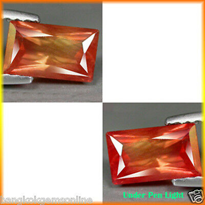 2.48Cts Rich Sparkling Gem - Natural Ultra Rare Color Shift Orange RED ANDESINE