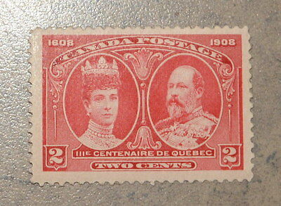 1908 Canada Quebec Stamp #98 2 Cents Canadian