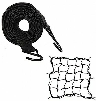 SHiZAK Motorcycle Strength Retractable Luggage Fixed Elastic Rope Strap With 2