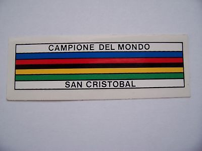 Nos Campagnolo World Champion Frame Decal Sticker