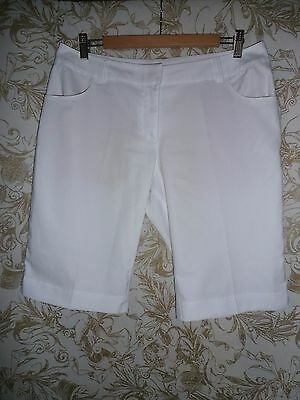 ADIDAS Climalite Sz 12 white bermuda style golf walking Shorts
