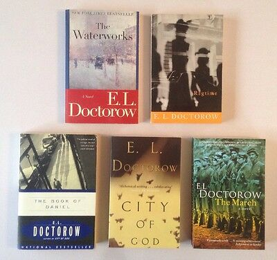 x5 E. L. Doctorow Book Lot | City Of God Ragtime March Book Of Daniel. H
