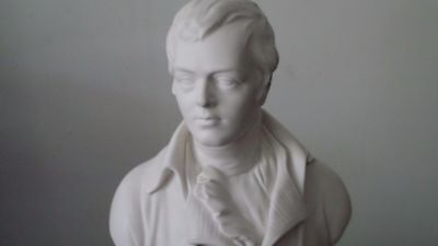 RARE 19th Century Antique Parian Ware Bust Sculpture ROBERT BURNS Wedgwood 14""