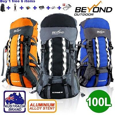 80L+20 Camping Hiking Backpack RUCKSACK Water proof Backpack *NEW ARRIVAL*