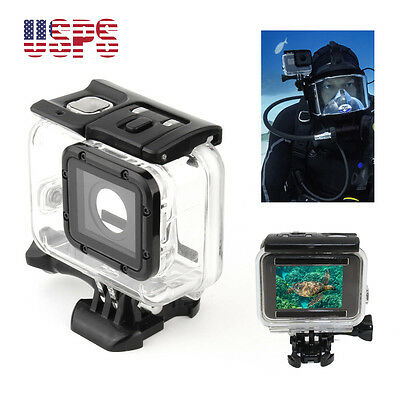 For GoPro Hero 5 Camera Accessory 45m Waterproof Diving Protective Housing Case