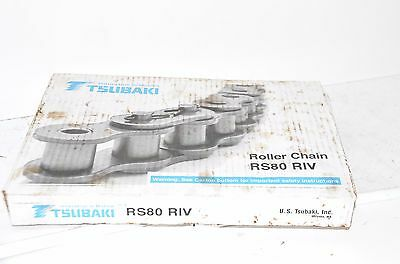 TSUBAKI RS 80 RIV ROLLER CHAIN 10 ft. 3.048m NEW IN BOX RS80