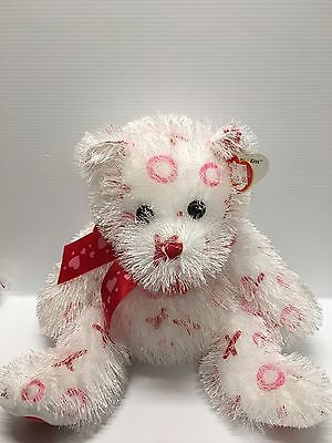 Ty Heart Bear XO BITTY KISS Valentine Love 14 Inches 2005 Girlfriend