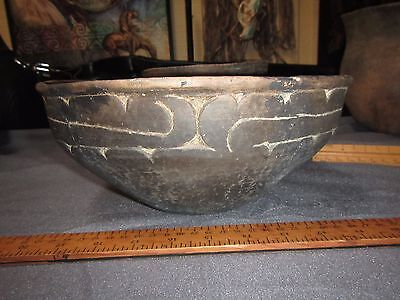 Authentic Ancient Native American Caddo Indian Pottery Ripley Engraved Bowl