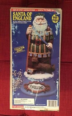 Vintage Wee Crafts Santa Of England Christmas Collector Series Paint Kit 21634!!