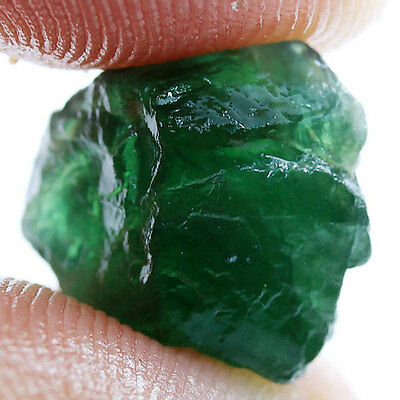 8.18Ct.1 P.Forest Green Apatite Rough Natural Gemstone Unheated Free Shipping!
