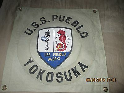 V/n Era Uss Pueblo Ager-2 Spy Ship  Wall Flag