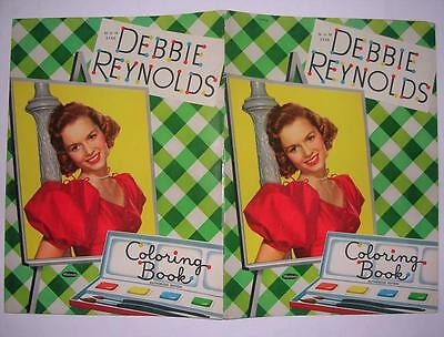 1953 Mgm Star Debbie Reynolds Coloring Paint Book Authorized Edition Whitman